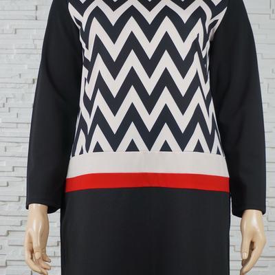 078 robe classique vintage vague noir blanc 1