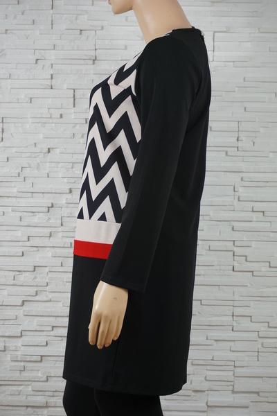 078 robe classique vintage vague noir blanc 2