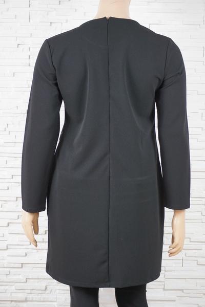 078 robe classique vintage vague noir blanc 3