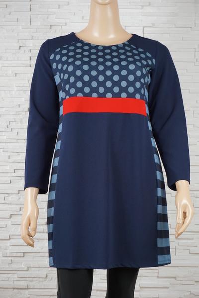 079 robe classique vintage rayure marine 1