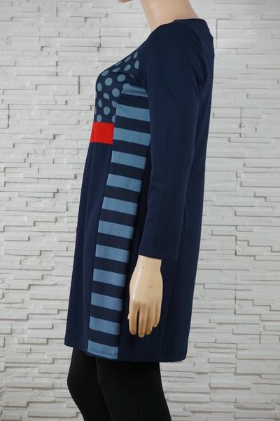 079 robe classique vintage rayure marine 2