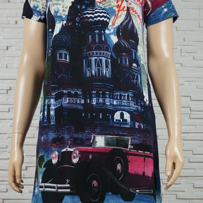 085 robe classique imprime n monuments marine 1