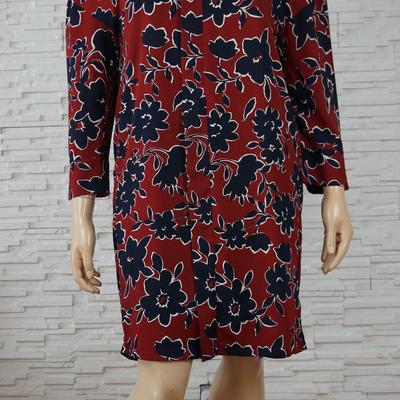 096 robe a fleurs bordeaux marine grande taille1