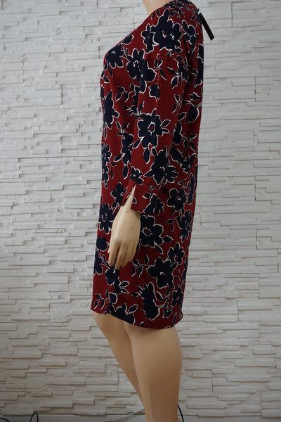 096 robe a fleurs bordeaux marine grande taille2