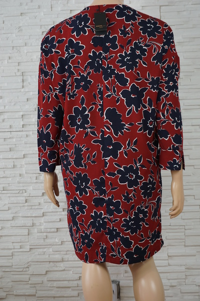 096 robe a fleurs bordeaux marine grande taille3