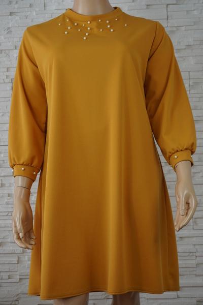 097 robe classique unie grande taille1