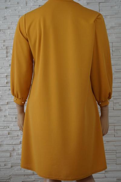 097 robe classique unie grande taille3