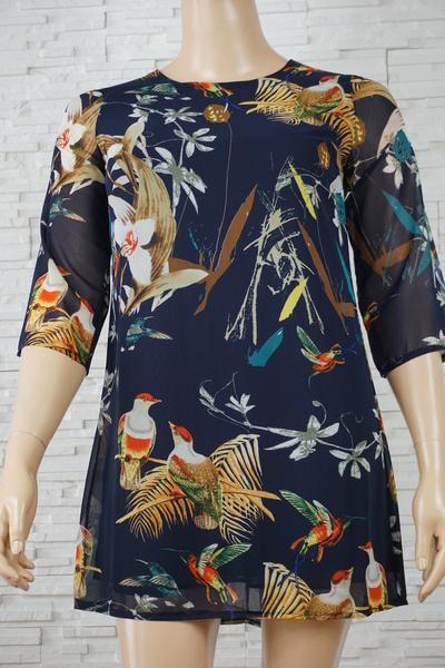 098 robe a fleurs grande taille1