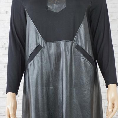 103 robe simili cuir grande taille1