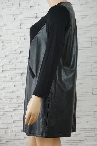 103 robe simili cuir grande taille2