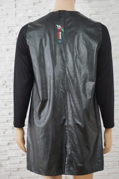 103 robe simili cuir grande taille3
