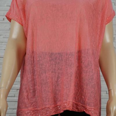 Tee-shirt uni large, bas et petites manches
