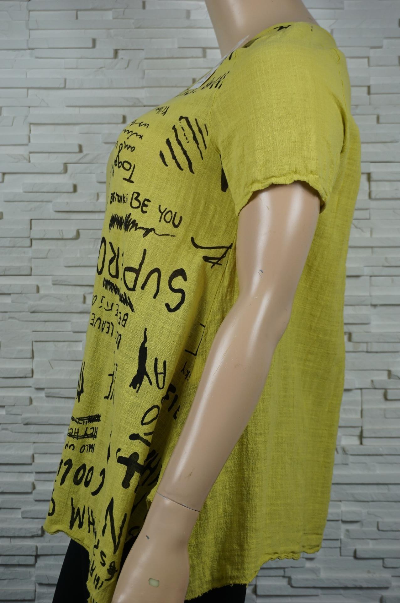 tunique en coton imprimé écritures