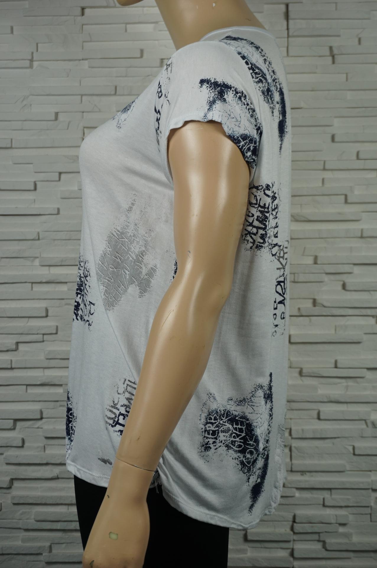 tee-shirt imprimé écritures blanc