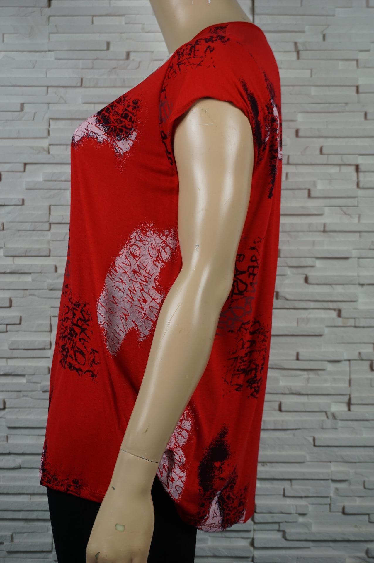 tee-shirt imprimé écritures rouge