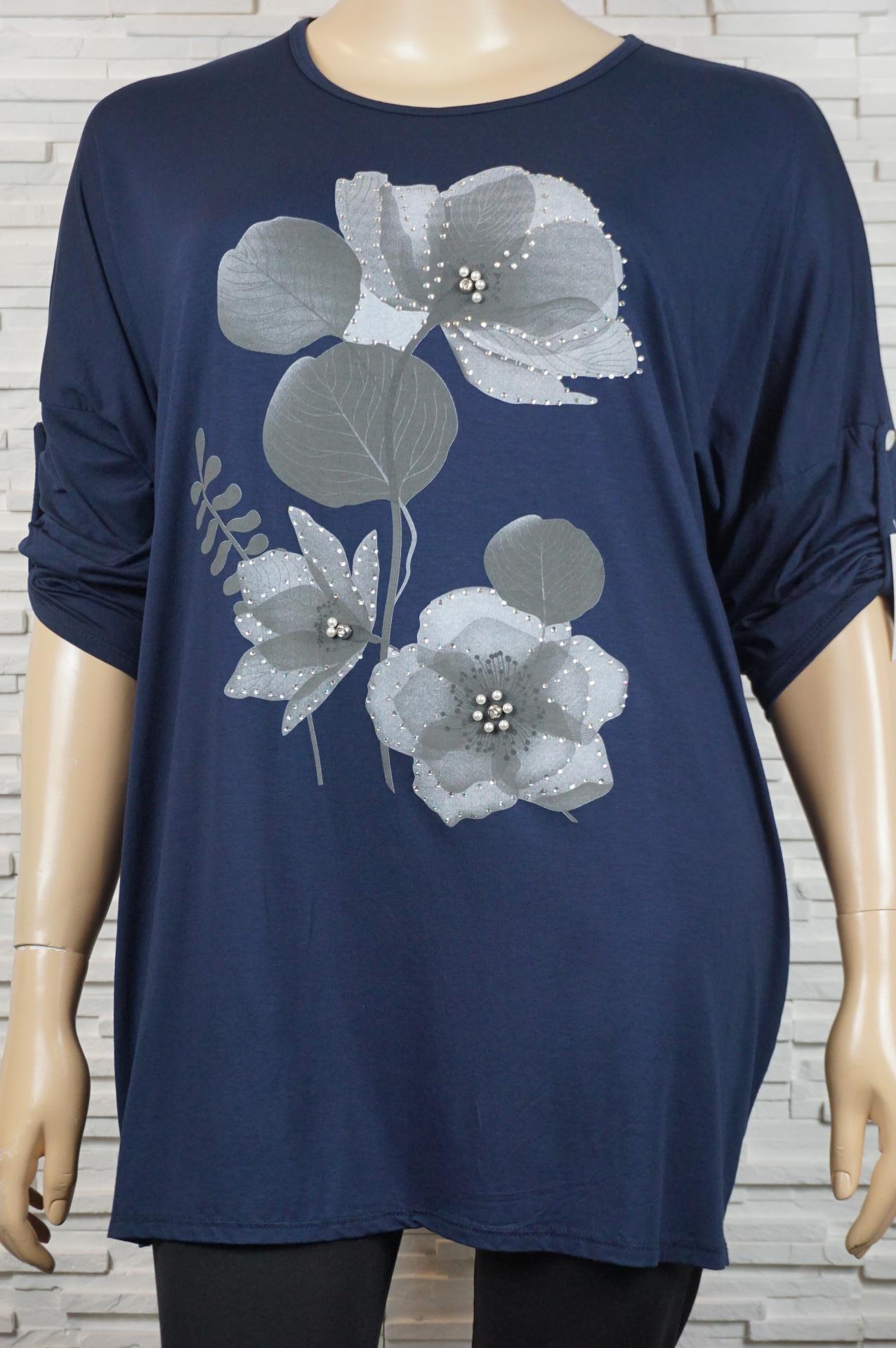 robe, tee-shirt long à fleurs