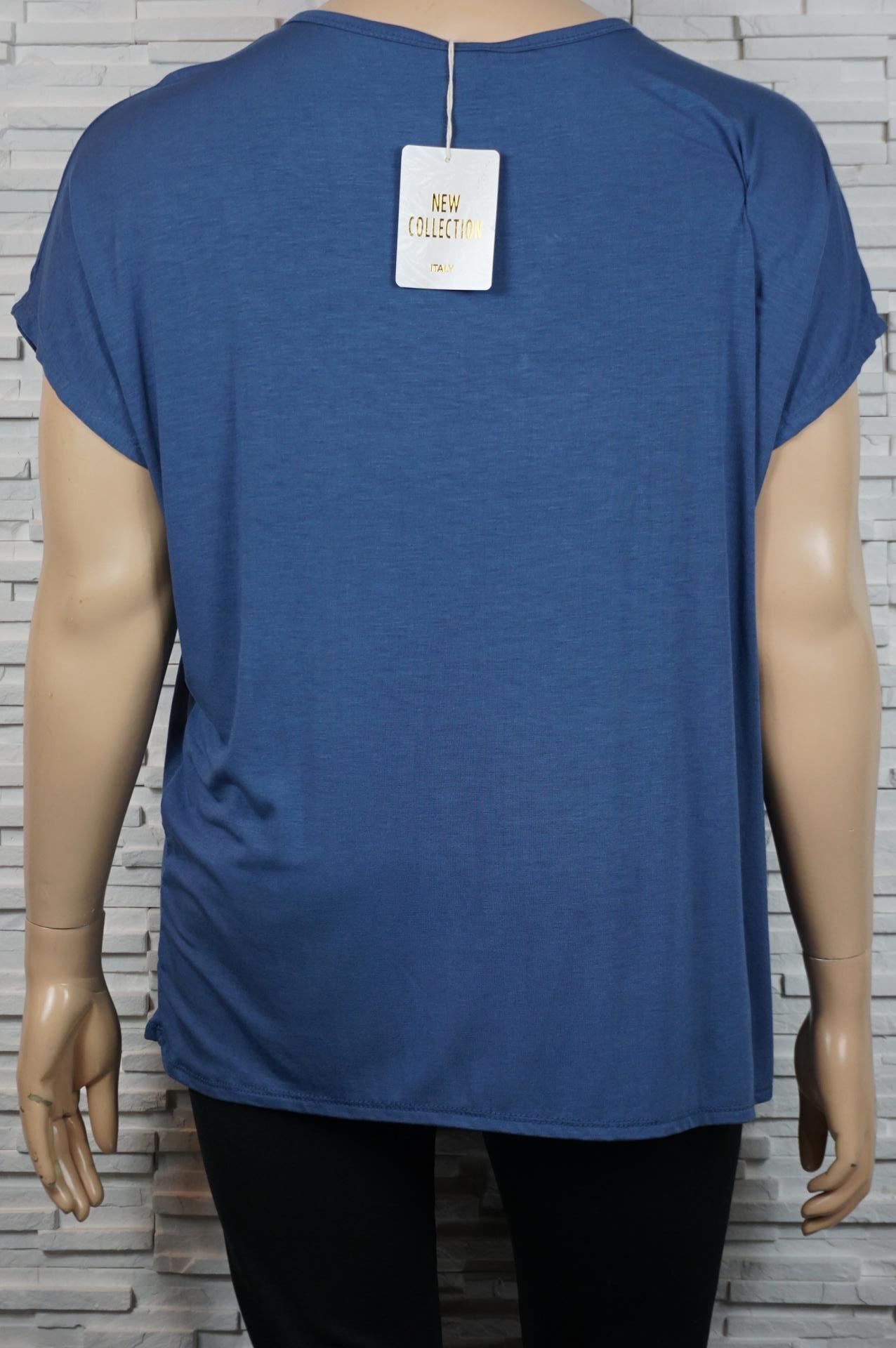 tee-shirt à motif argenté et dentelles