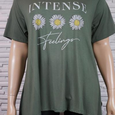 tee-shirt long 3 tournesols