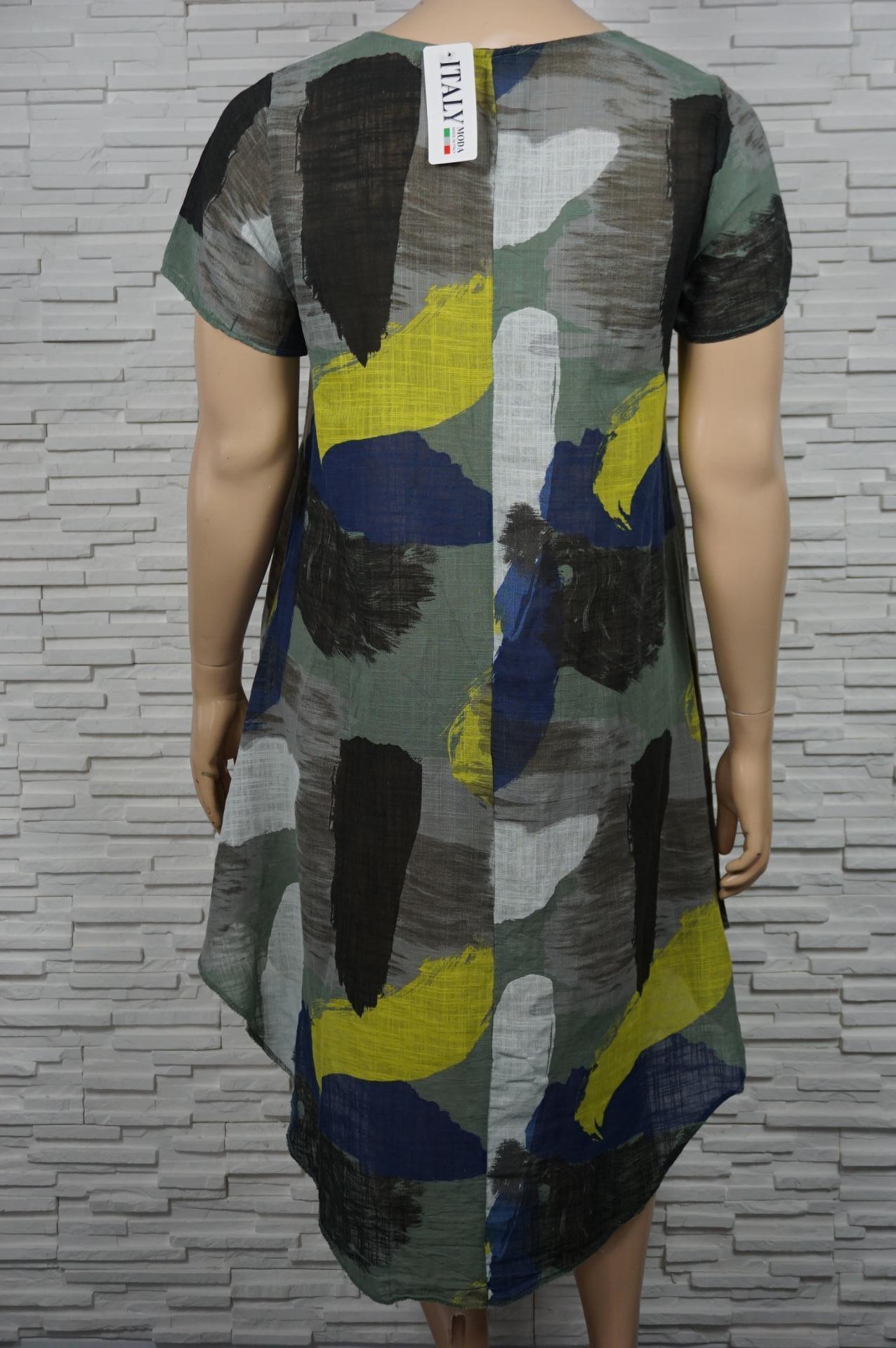 Robe longue lin coton imprimé militaire