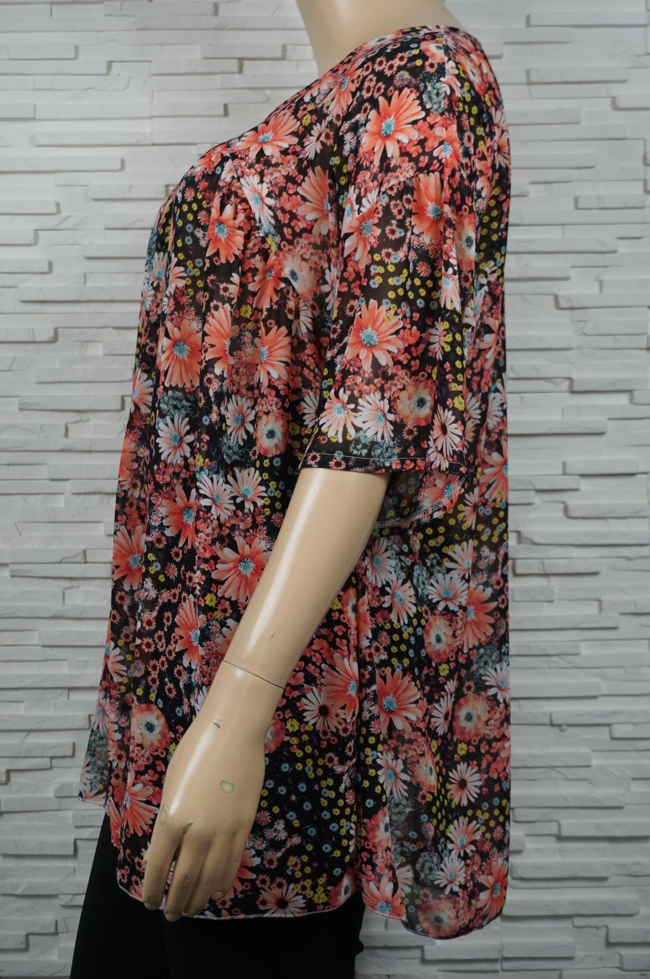 Robe bohême voile imprimé floral.