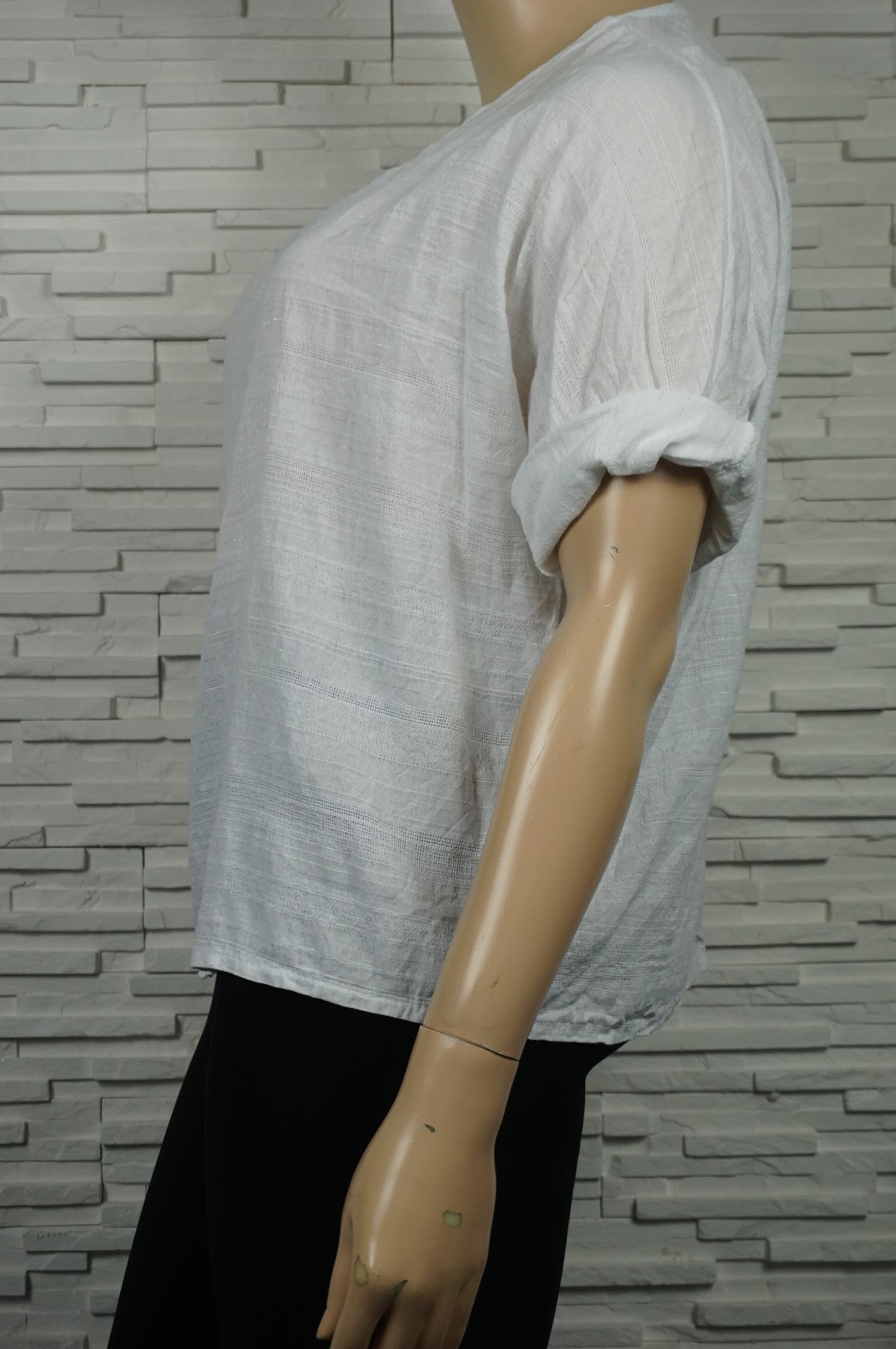 Blouse en coton uni oversize.