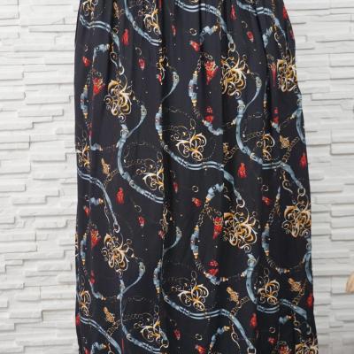 Jupe longue coton imprimée foulard.