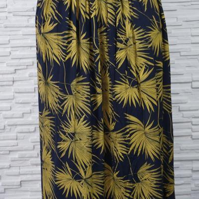 Jupe longue coton imprimée PALMIER