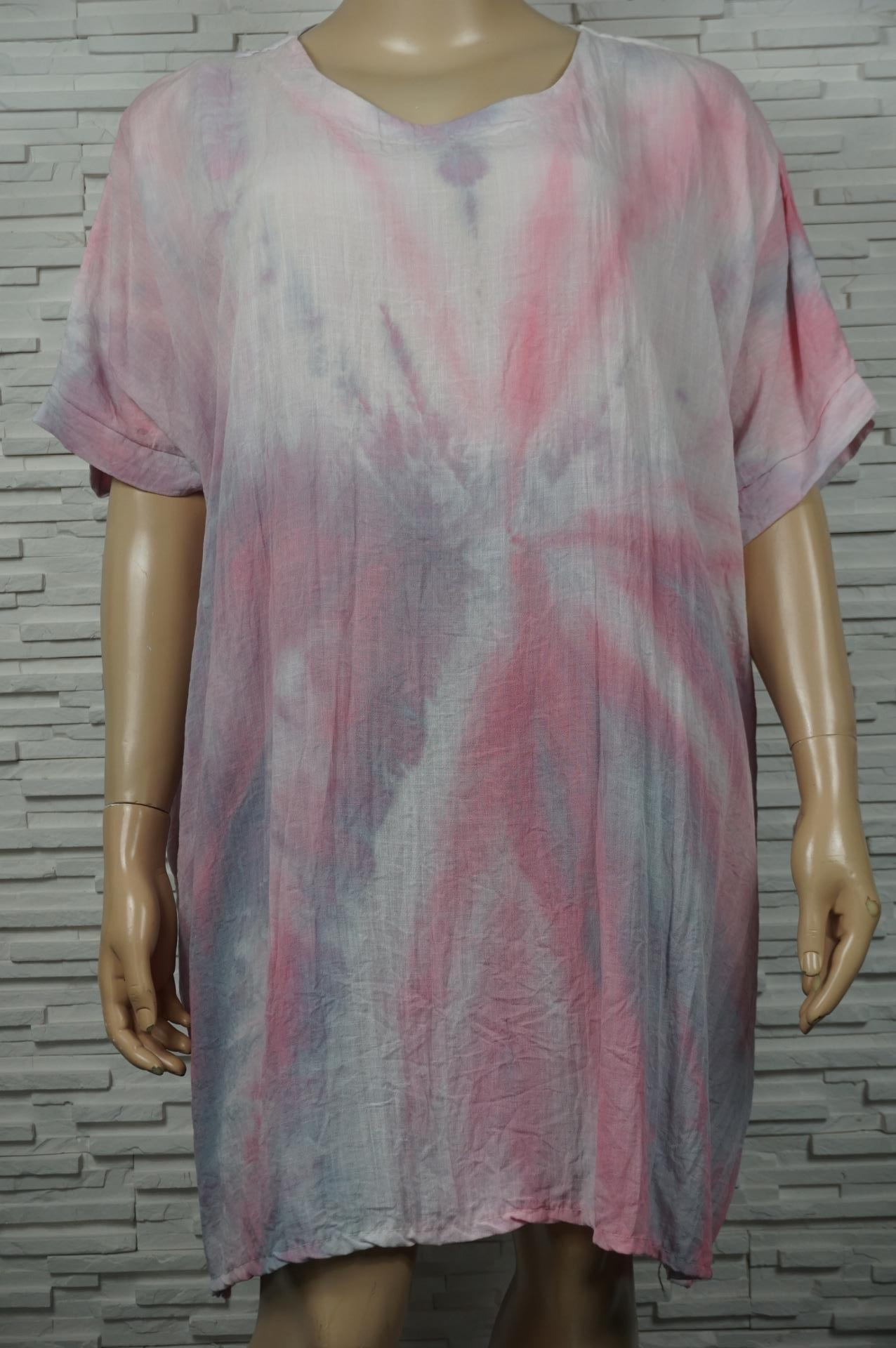 Robe large Tie and Dye en coton.