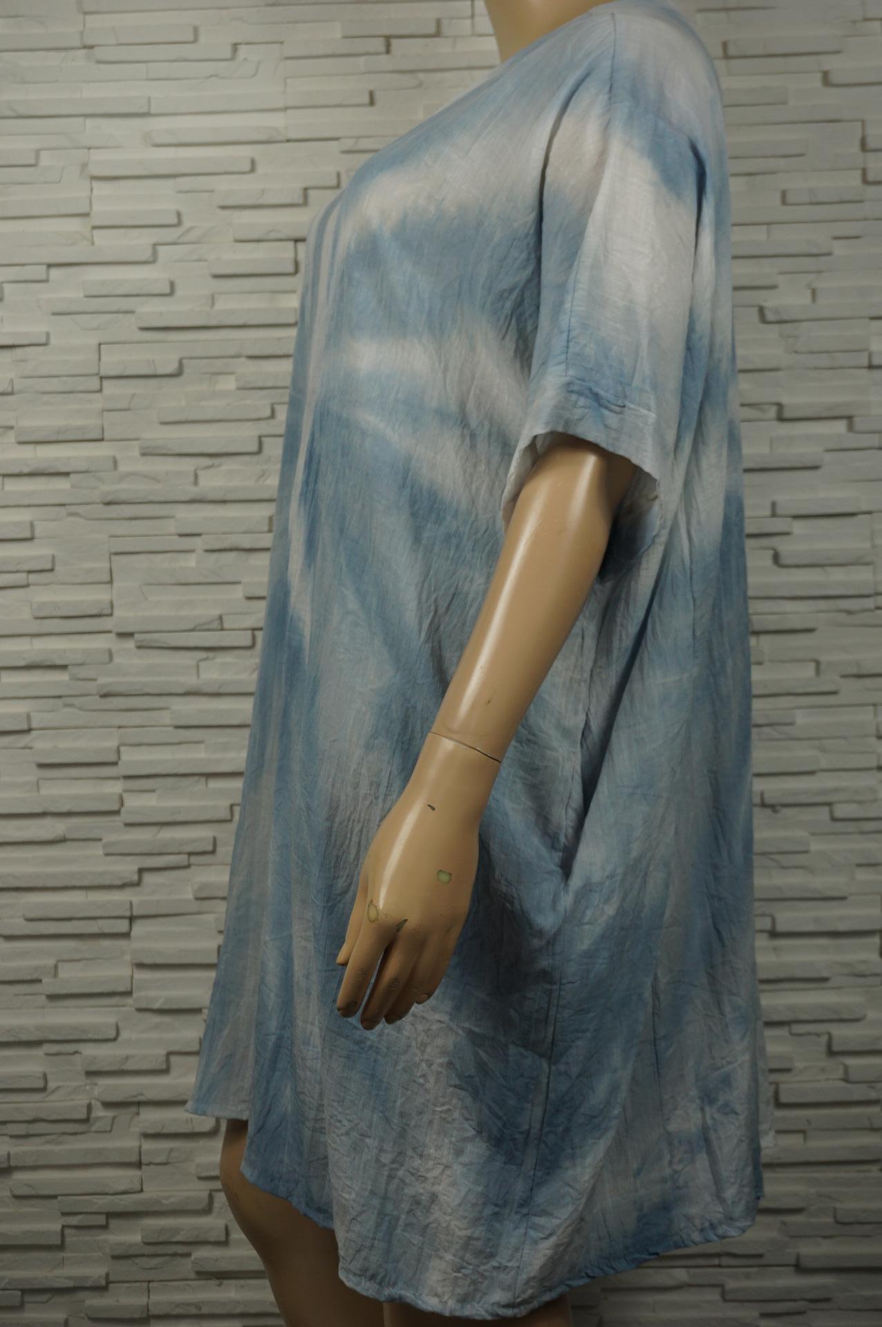 Robe large Tie and Dye en coton.