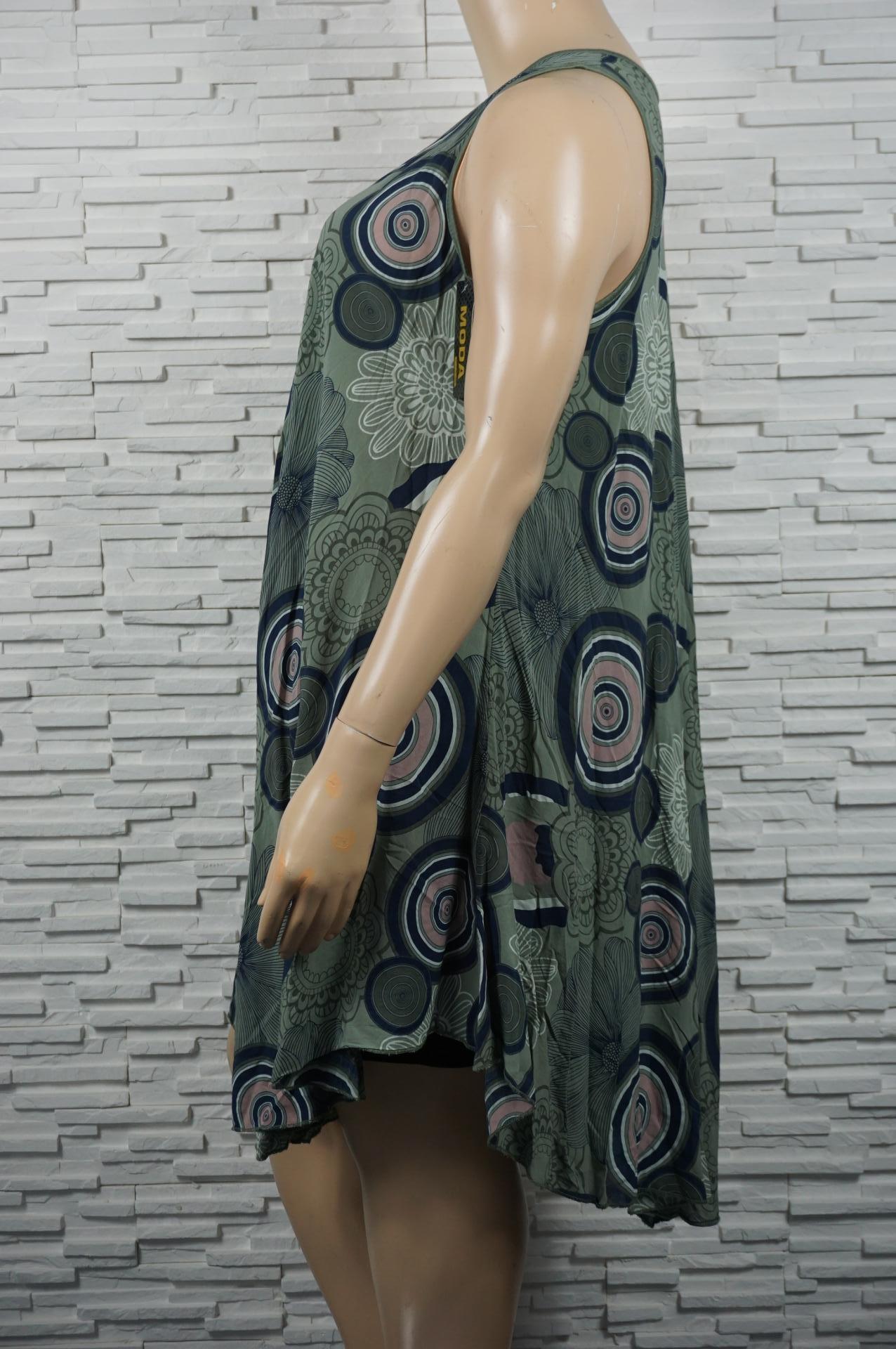 Robe imprimé légère en coton, sans manches.