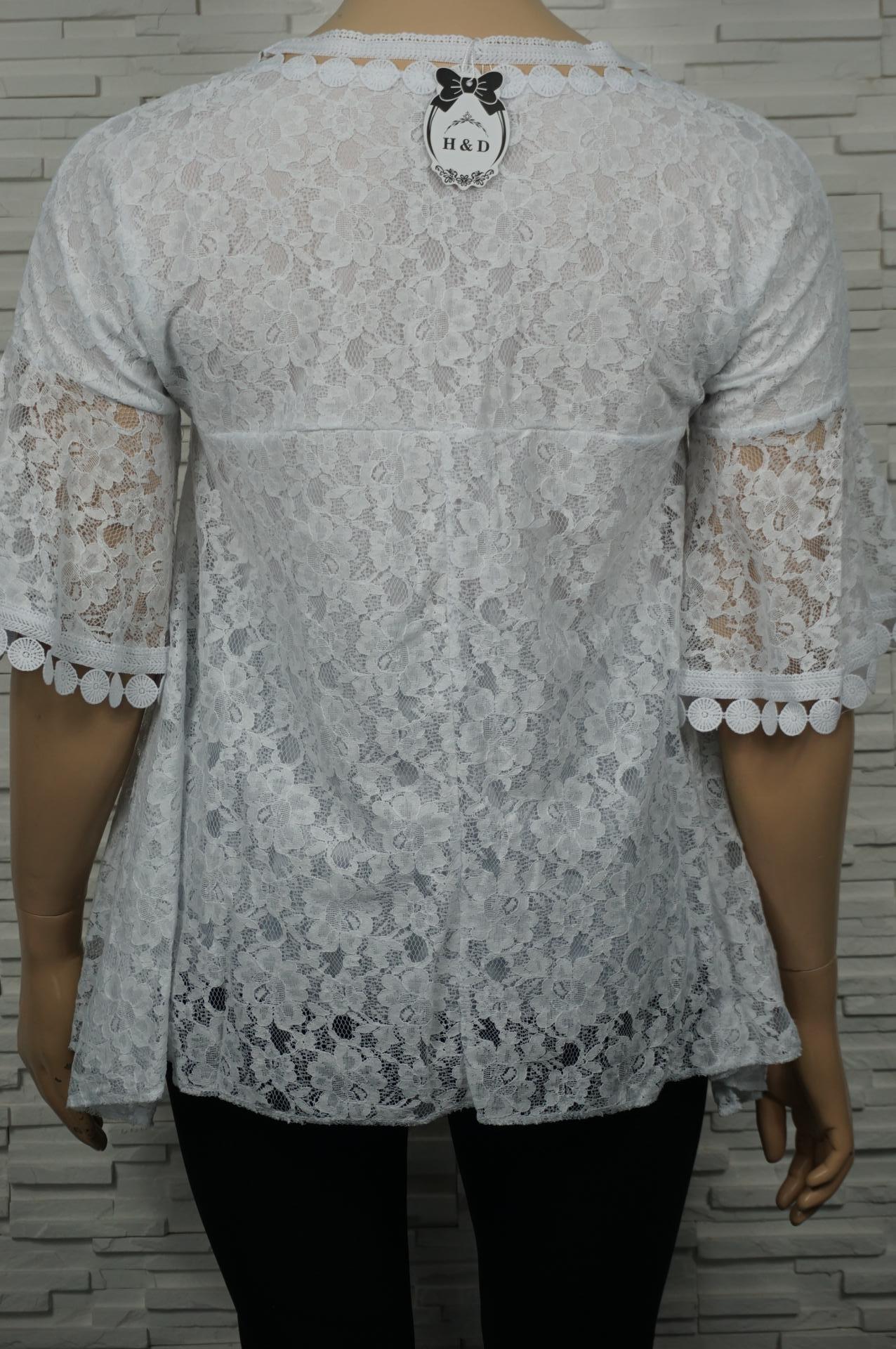 chemise à dentelles