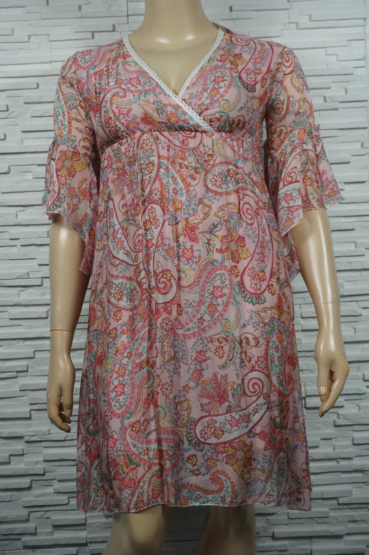 robe croisée en soie