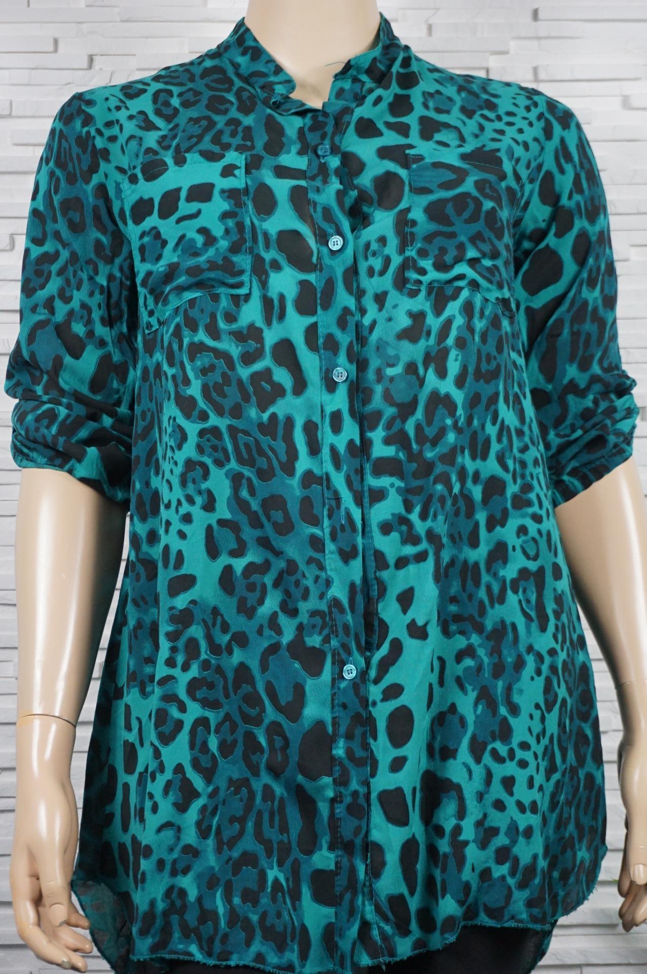 robe/chemise coton iprimé leopard