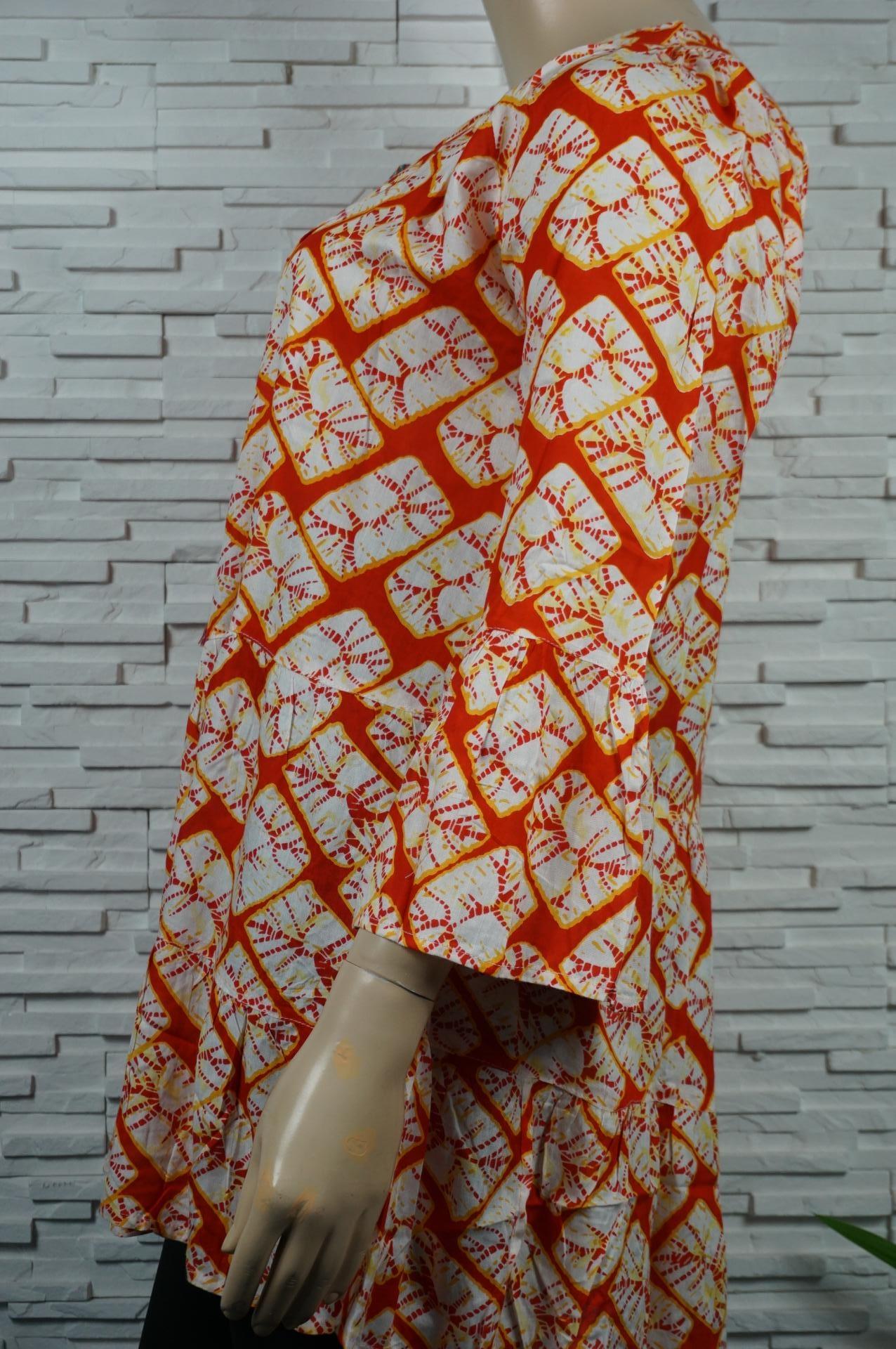robe imprimé ethnique à volants col V