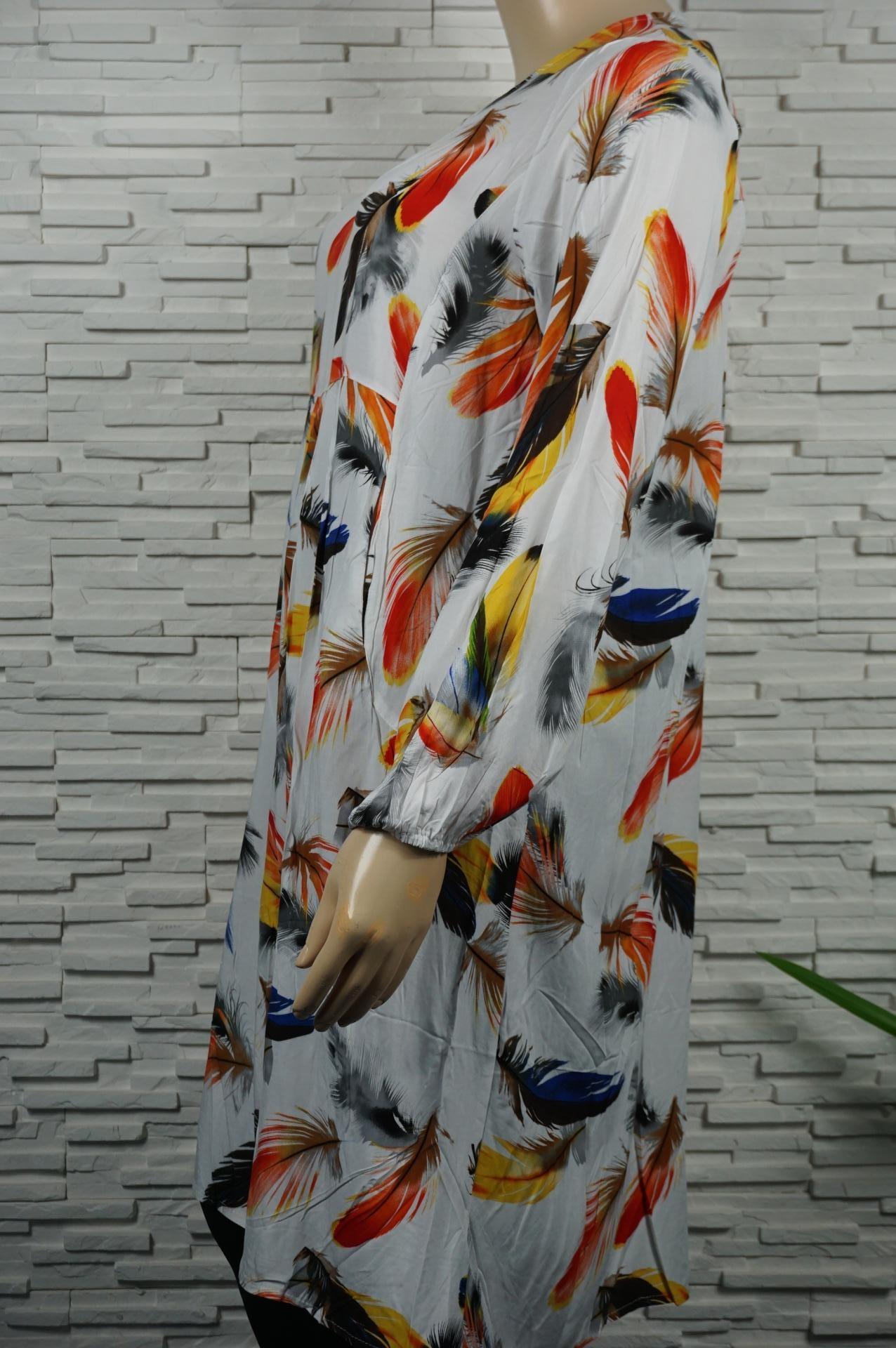 Robe longue plumes