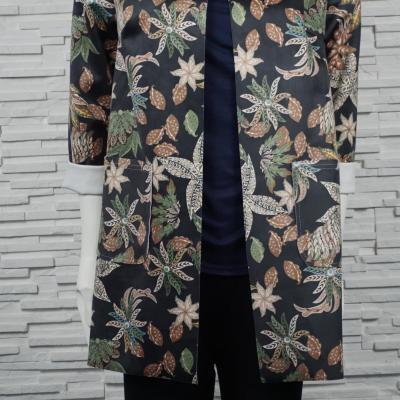 Veste en suédine imprimé florales.