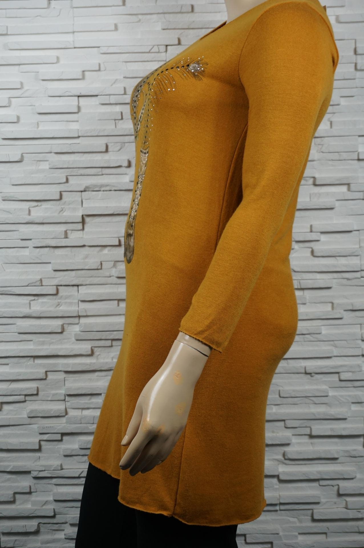 Pull léger / tunique longue à motifs