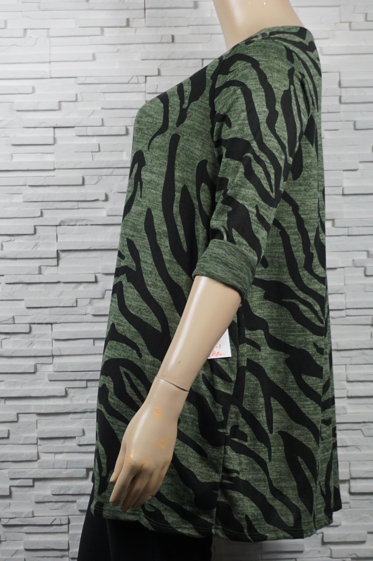 Tunique longue imprimé zèbre.