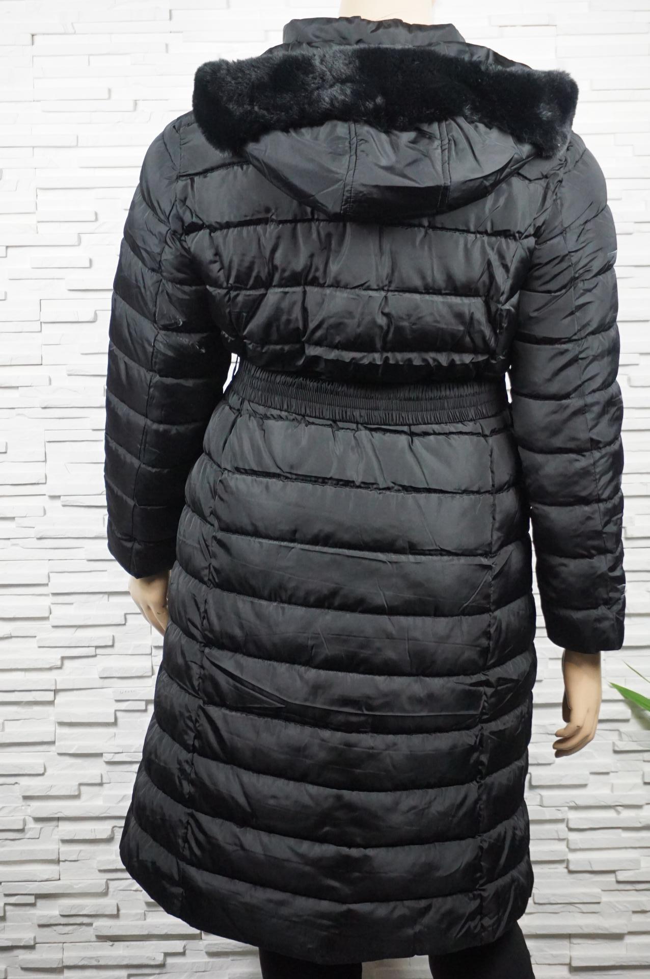 Veste  doudoune longue ou manteau polyester avec ceinture