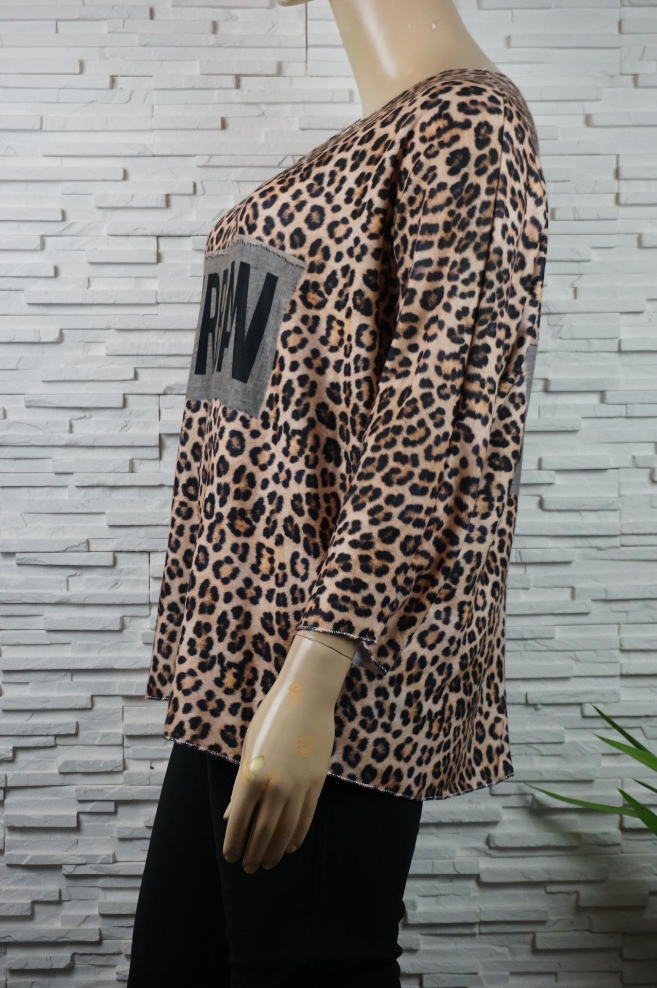 Pull doux léopard