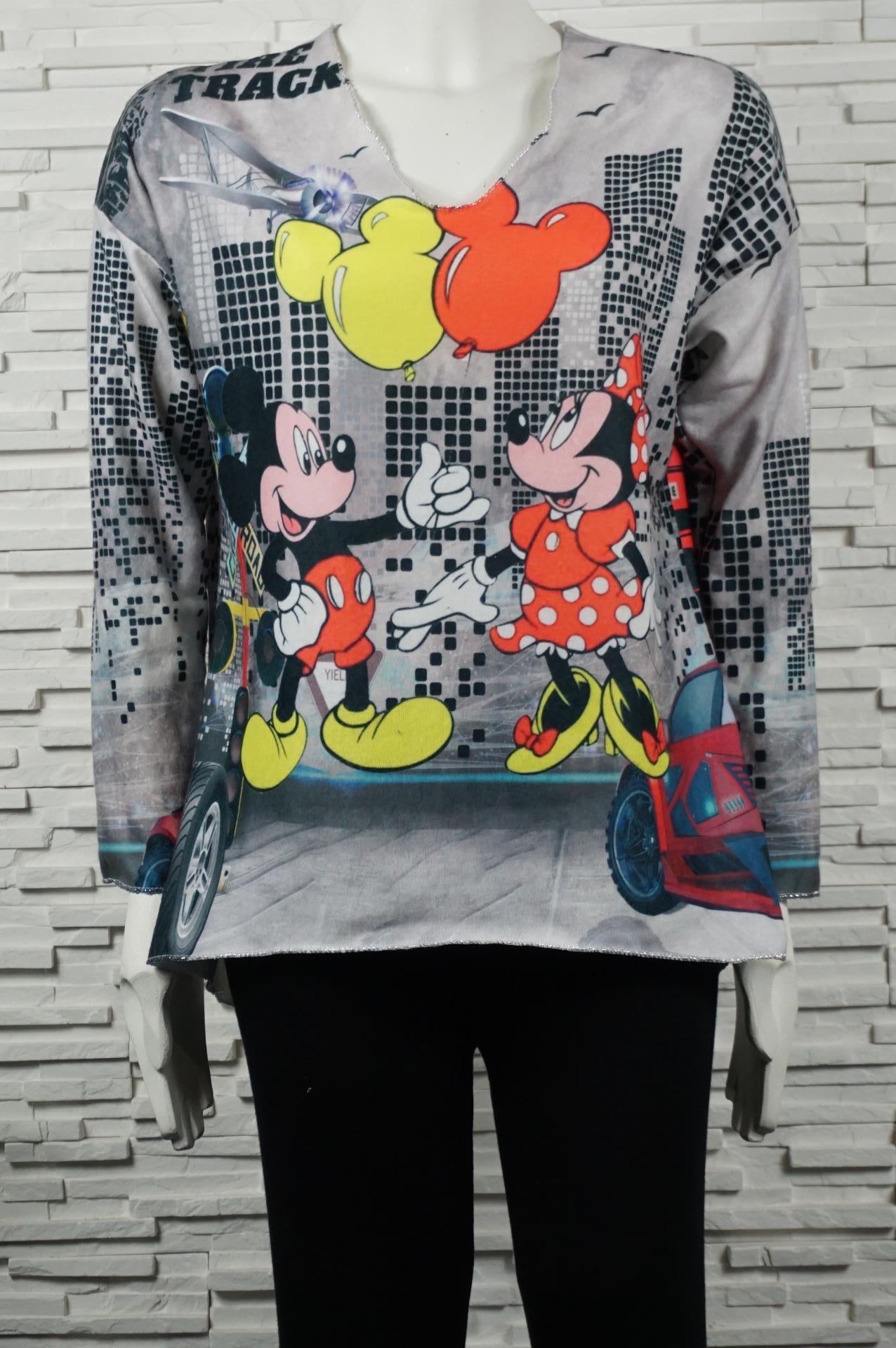 Pull doux court Mickey/Minnie.