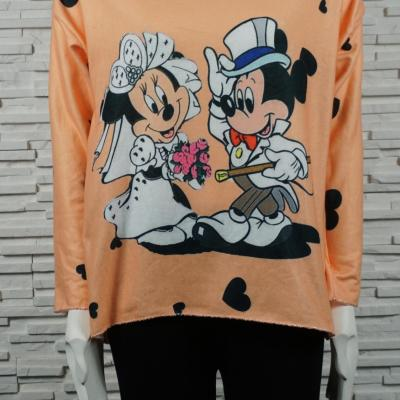 Pull doux court Mickey/Minnie.