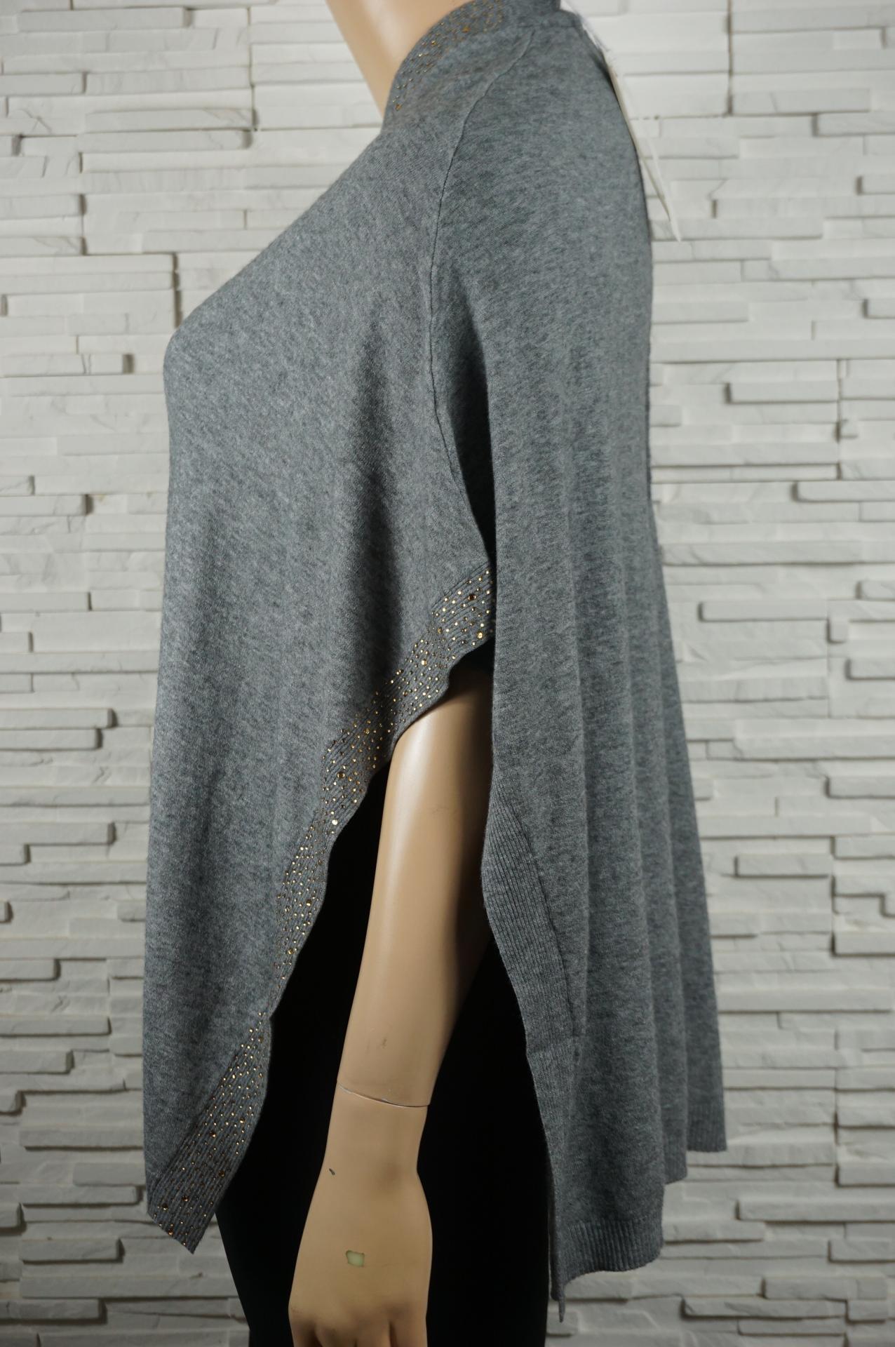 Poncho cape manches courtes2