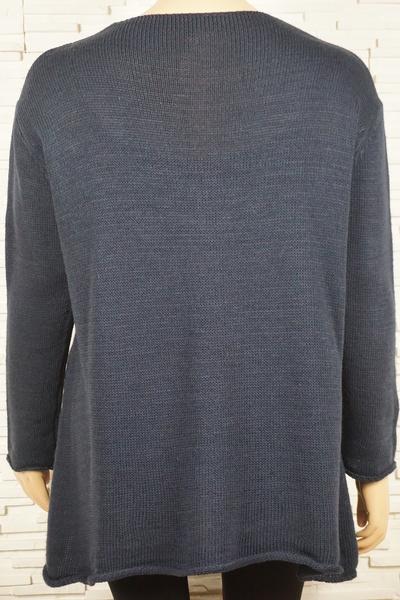 Pull tricote asymetrique rayures et torsade 309 2