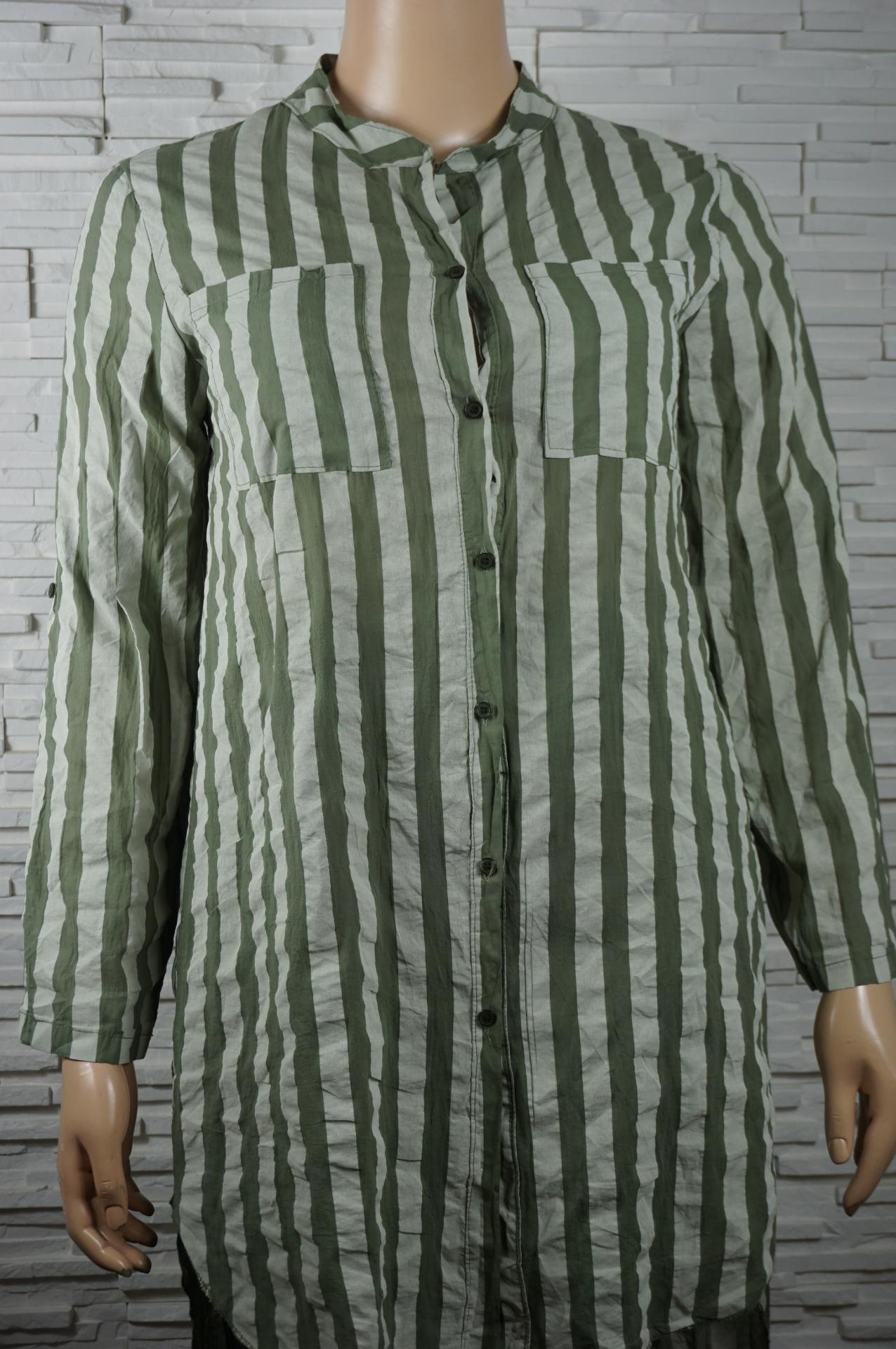 Robe chemise longue a rayures1