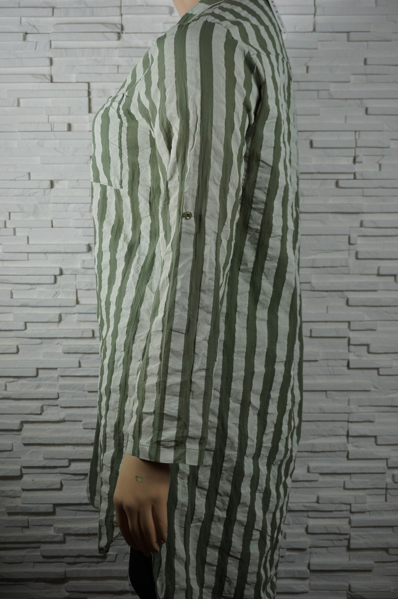 Robe chemise longue a rayures2