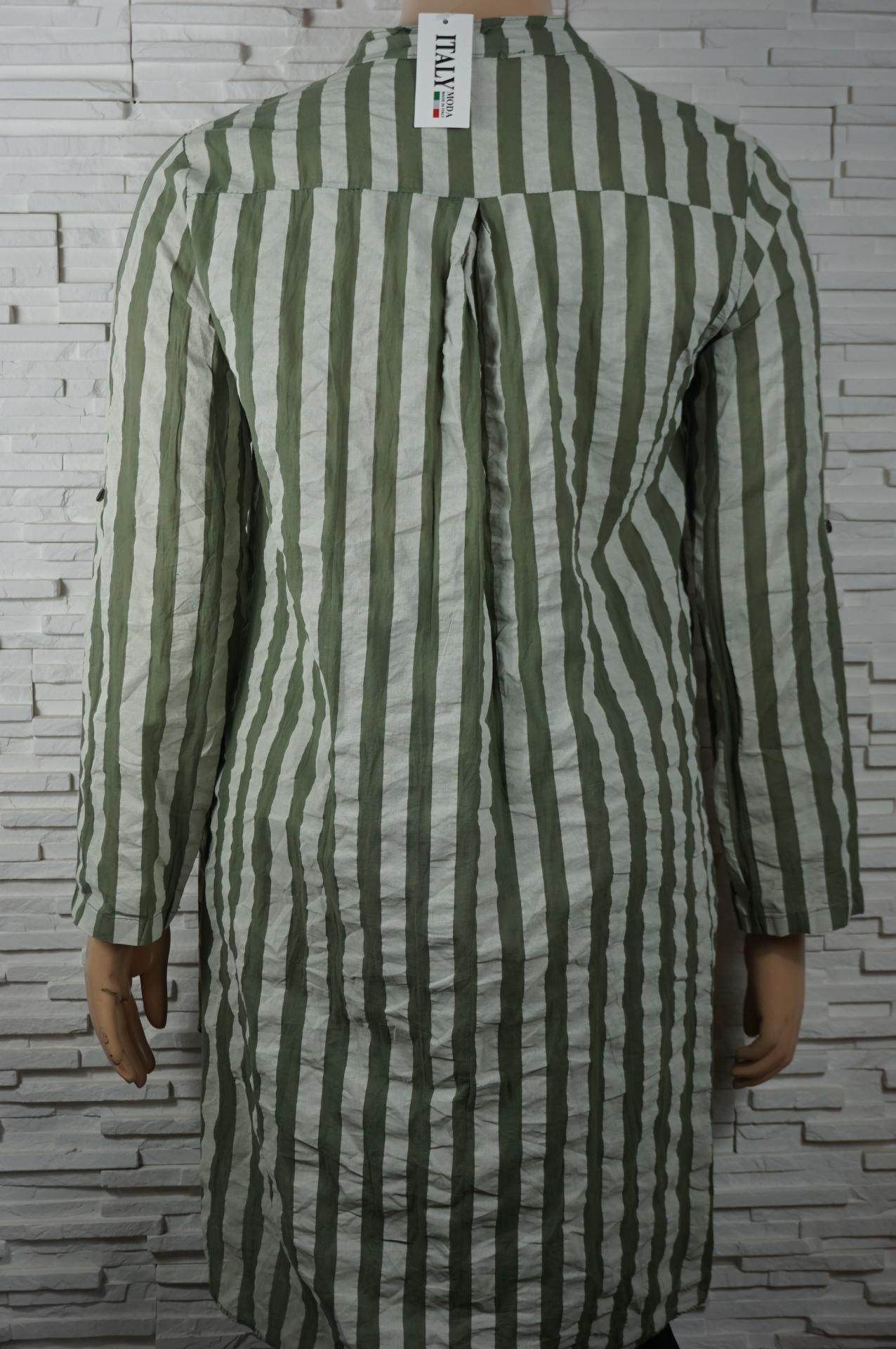 Robe chemise longue a rayures3