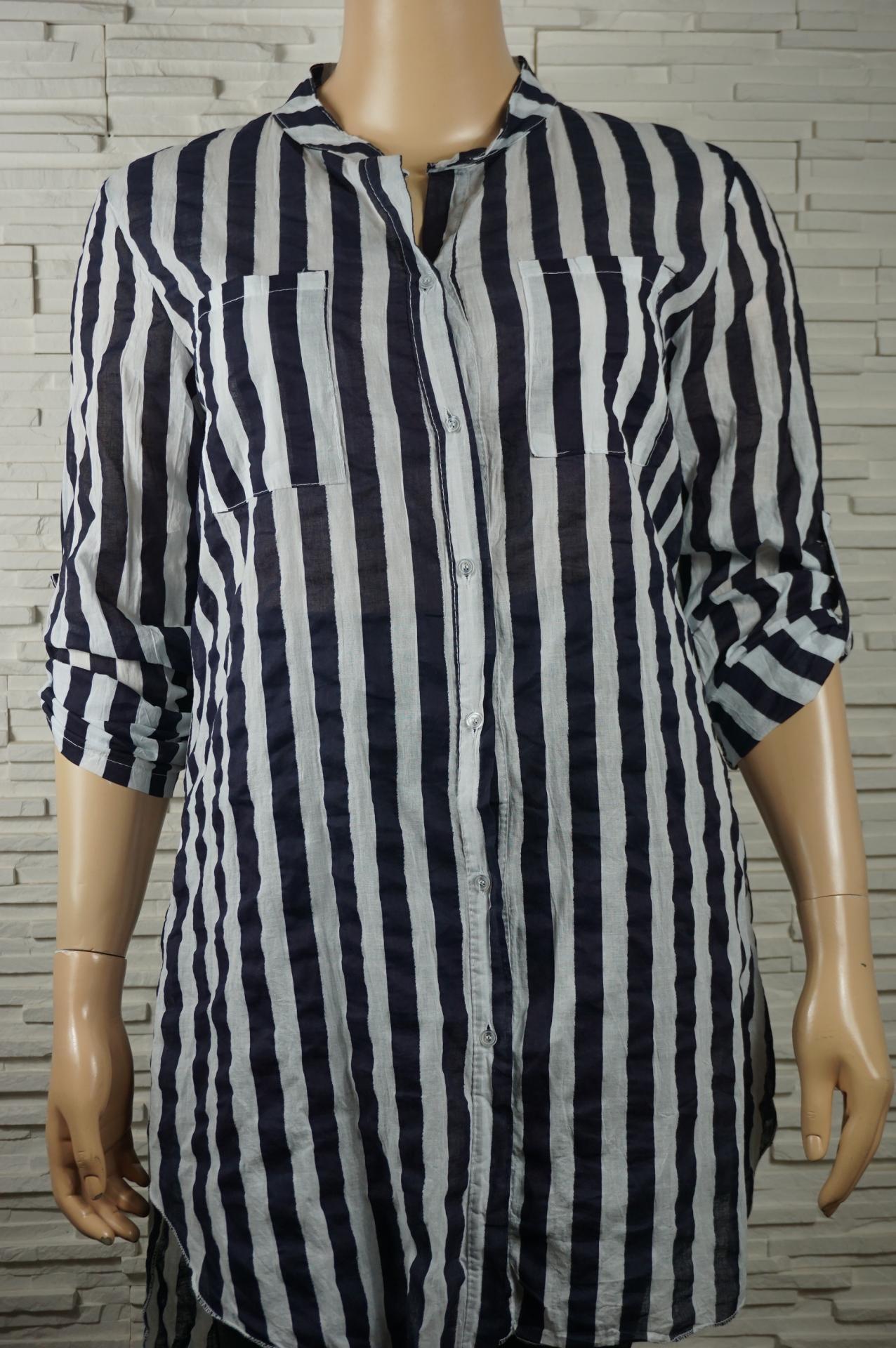 Robe chemise longue a rayures4