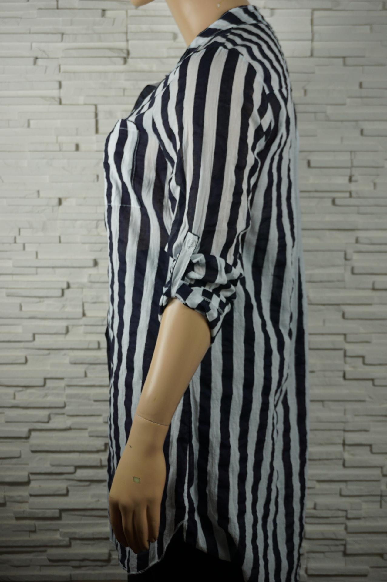 Robe chemise longue a rayures5