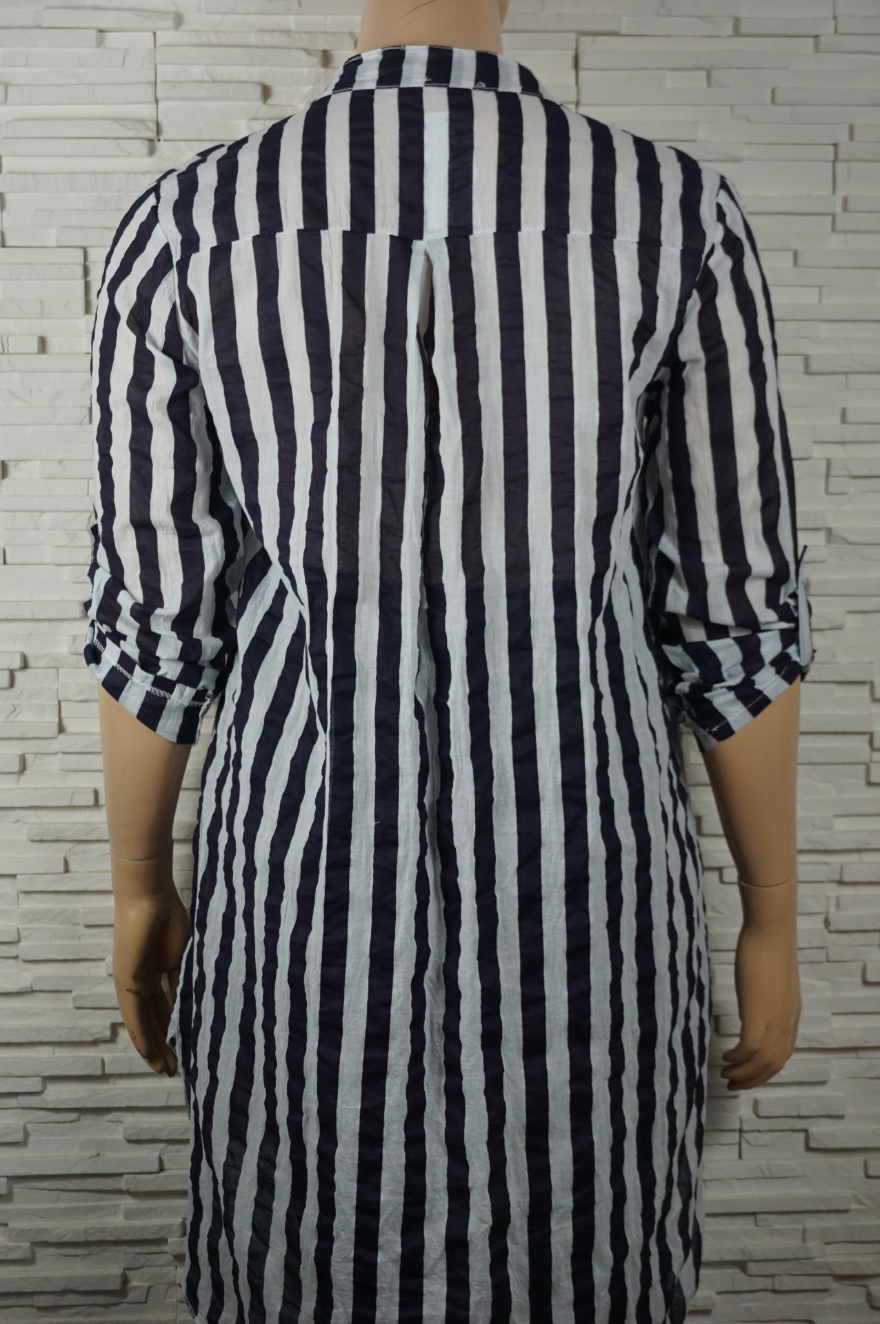 Robe chemise longue a rayures6